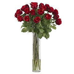 nearly natural Silk Rosebud Floral Arrangement