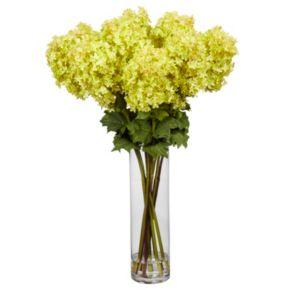 nearly natural Large Liquid Illusion Silk Hydrangea Floral Arrangement