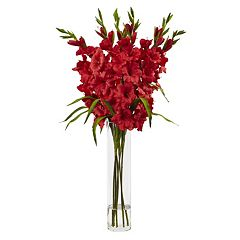 nearly natural Liquid Illusion Silk Gladiola Floral Arrangement