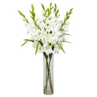 nearly natural Liquid Illusion Silk Gladiola Floral Arrangement