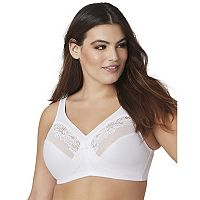 Glamorise Bra: Magic Lift Unlined Wire-Free Full-Figure Minimizer Bra 1003