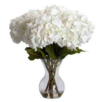 nearly natural Liquid Illusion Silk Hydrangea Floral Arrangement