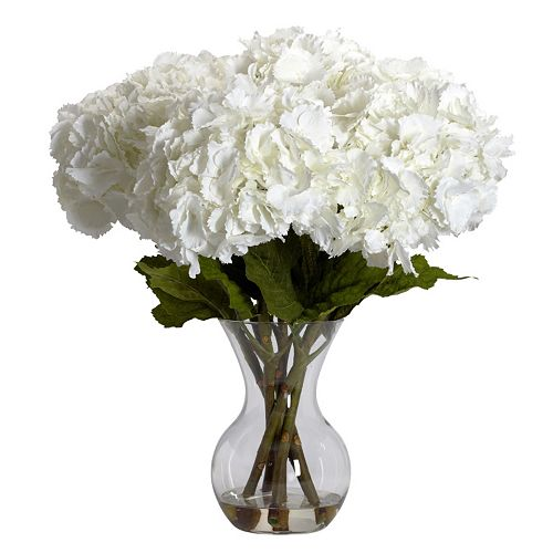 nearly natural Liquid Illusion Silk Hydrangea Floral Arrangement