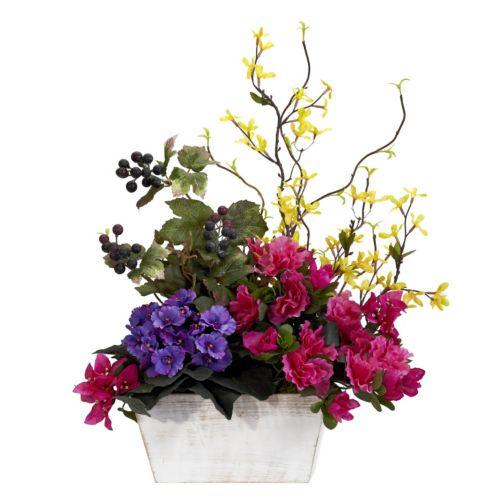nearly natural Silk Mixed and Azalea Floral Arrangement