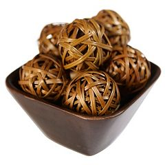 nearly natural 12-pc. Wicker Ball Set