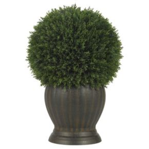 nearly natural Silk Cedar Topiary Plant