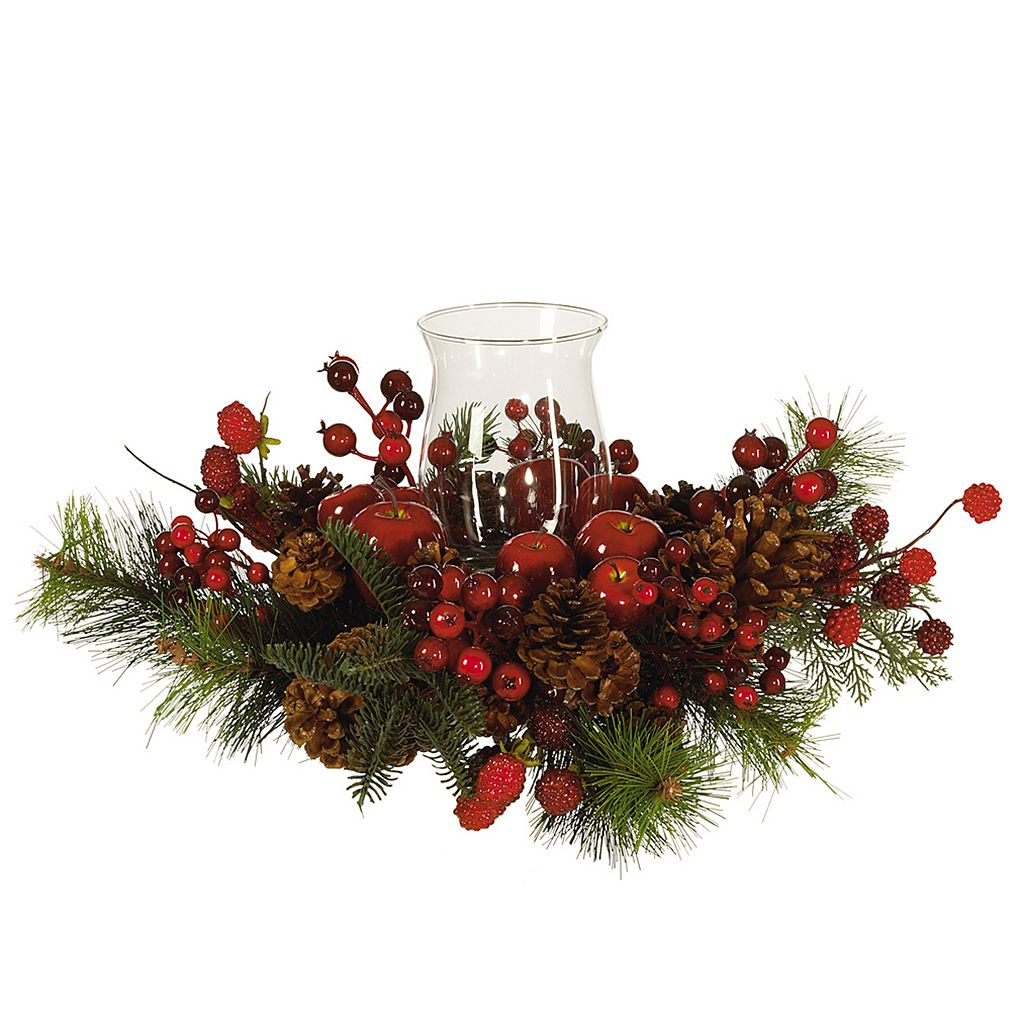 nearly natural Berry Christmas Candelabrum Centerpiece