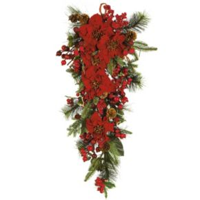 nearly natural Poinsettia Holiday Hanging Arrangement