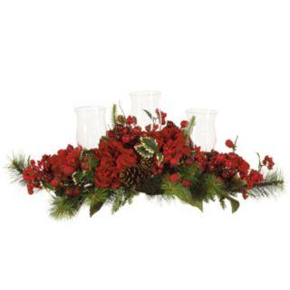 nearly natural Hydrangea Christmas Candelabrum Centerpiece