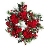 nearly natural Hydrangea Holiday Wreath