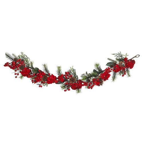 nearly natural Hydrangea Holiday Garland