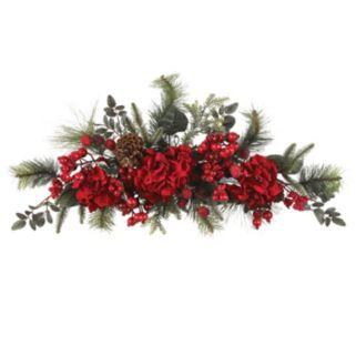 nearly natural Hydrangea Holiday Swag