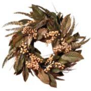 nearly natural Feather and Berry Wreath