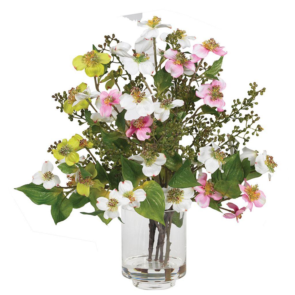 nearly natural Silk Dogwood Floral Arrangement