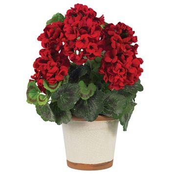 nearly natural Silk Geranium Plant