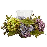 nearly natural Silk Mixed Hydrangea Candelabrum Centerpiece