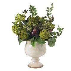 nearly natural Silk Artichoke & Hydrangea Arrangement