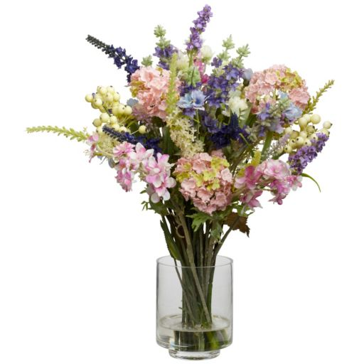nearly natural Silk Lavender and Hydrangea Arrangement