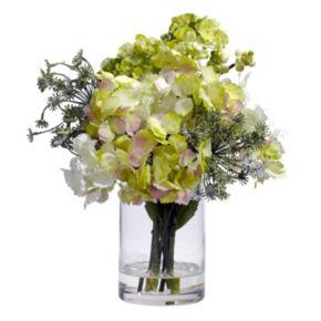 nearly natural Silk Hydrangea Floral Arrangement