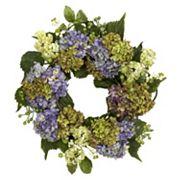nearly natural 22 in Silk Hydrangea Wreath