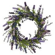 nearly natural 20 in Silk Lavender Wreath