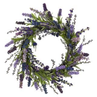 nearly natural 20-in. Silk Lavender Wreath