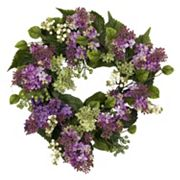 nearly natural 20 in Silk Hanel Lilac Wreath
