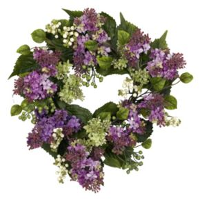 nearly natural 20-in. Silk Hanel Lilac Wreath