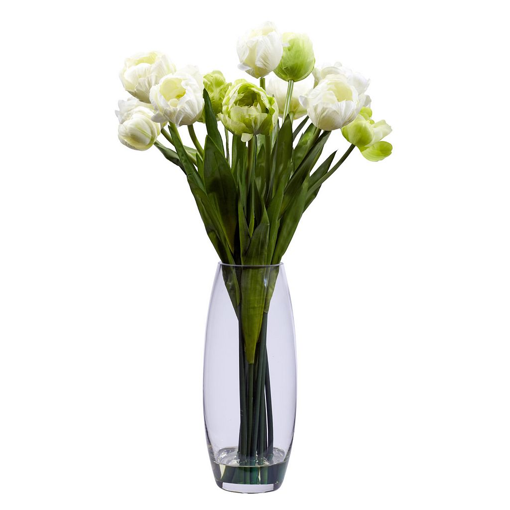 nearly natural Silk Tulip Floral Arrangement