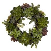 nearly natural 20 in Succulent Wreath