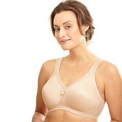Glamorise Bra: MagicLift Seamless Support T-Shirt Bra 1070 - Women's