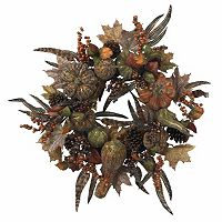 nearly natural 28-in. Autumn Pumpkin Wreath