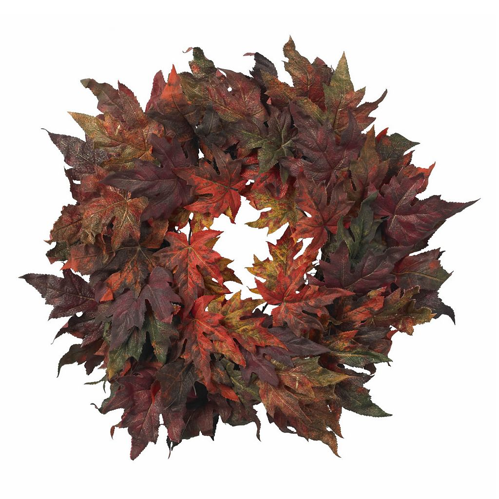 nearly natural 30-in. Maple Leaf Wreath