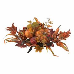 Orange nearly natural artificial flowers plants home decor kohls nearly natural harvest centerpiece mightylinksfo