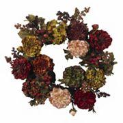 nearly natural 22 in Autumn Hydrangea Peony Wreath