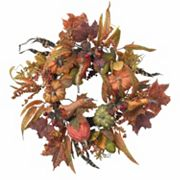 nearly natural 24 in Pumpkin & Berry Wreath