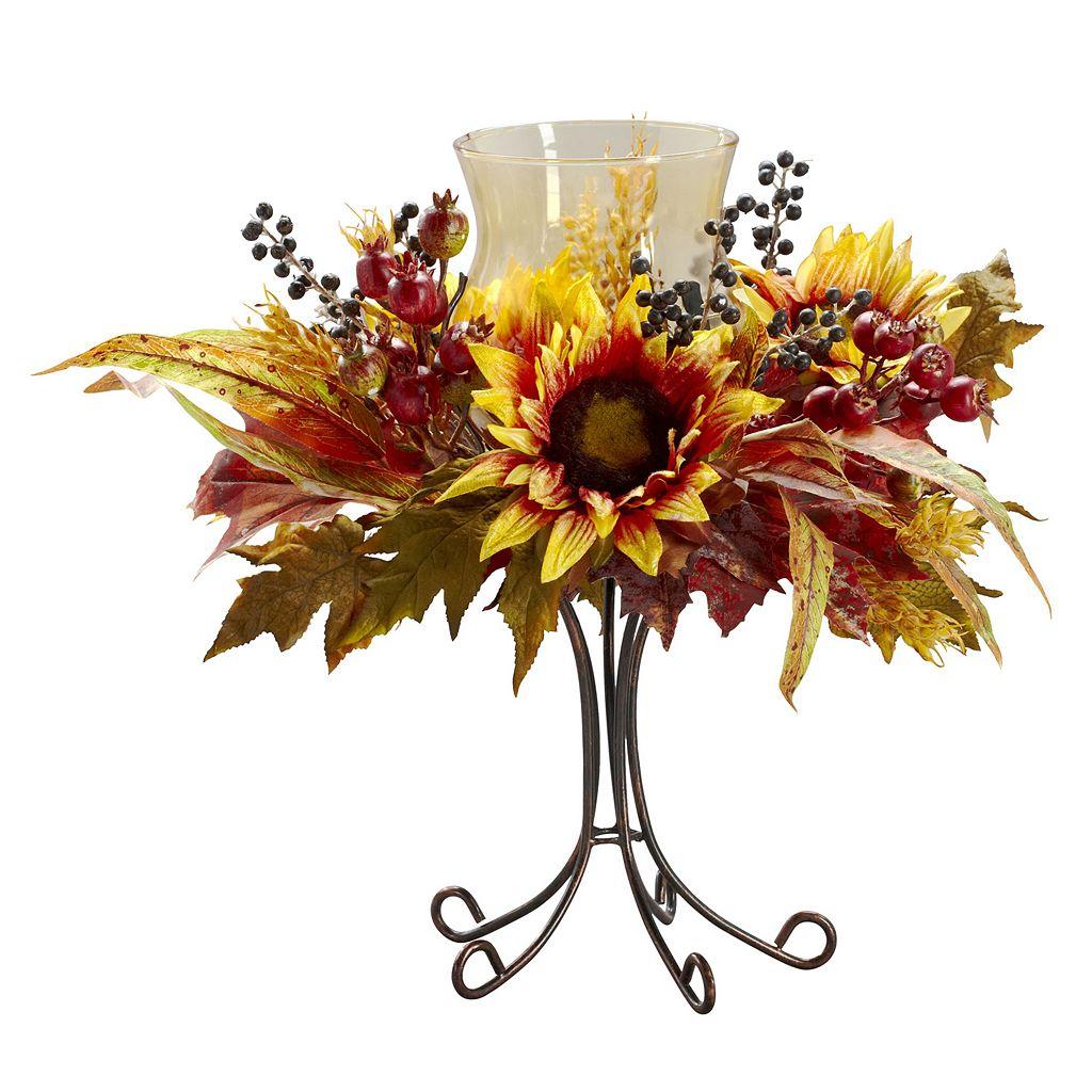 nearly natural Sunflower Candelabrum