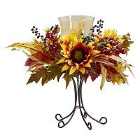 nearly natural Sunflower Candelabrum