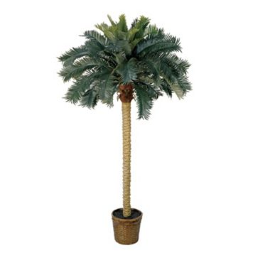nearly natural 6-ft. Sago Palm Silk Tree