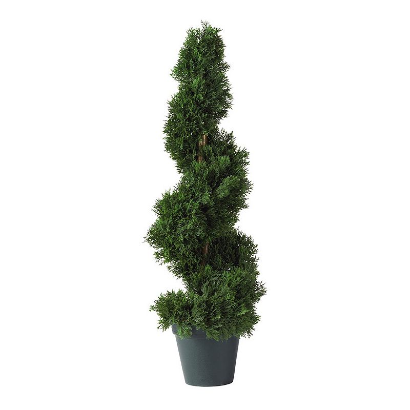 nearly natural 2-ft. Cedar Spiral Silk Tree - Indoor and Outdoor, Green 452 leaves offer an authentic look and texture. Spiral cedar design brings colonial elegance to decor. Non-decorative pot lends a realistic touch. 24H x 8W x 7D Weight: 5 lbs Plastic Wipe clean For both indoor & outdoor use Model no. 5160  Size: One Size. Color: Green. Gender: unisex. Age Group: adult. Material: silk.