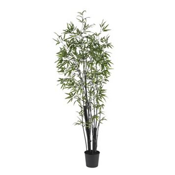 nearly natural 6-ft. Black Bamboo Silk Tree