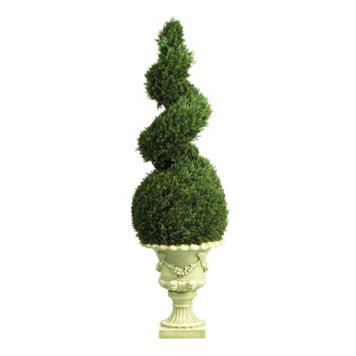 nearly natural 4-ft. Cedar Spiral - Indoor & Outdoor