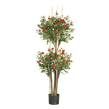 nearly natural 5-ft. Mini Rose Silk Tree