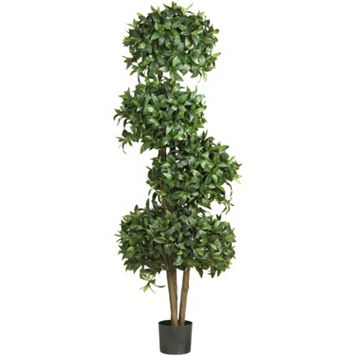 nearly natural 69-in. Sweet Bay Topiary Silk Tree