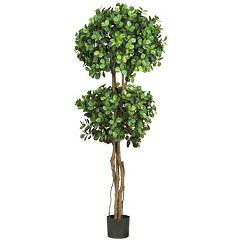 nearly natural 5 1/2-ft. Eucalyptus Topiary Silk Tree
