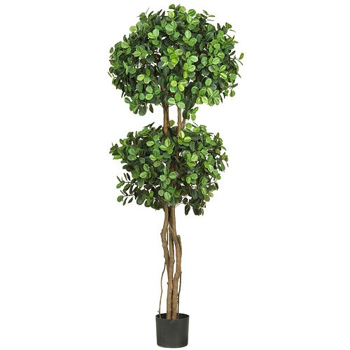 nearly natural 5 1/2-ft. Eucalyptus Topiary Silk Tree