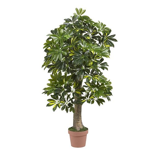 nearly natural Real Touch 4-ft. Silk Schefflera Tree
