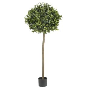 nearly natural 5-ft. Silk Sweet Bay Ball Topiary Tree