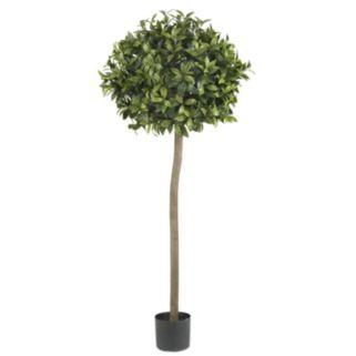 nearly natural 5-ft. Silk Sweet Bay Ball Topiary Tree