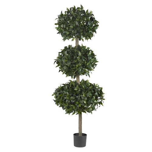 nearly natural 69-in. Sweet Bay Triple Ball Tree